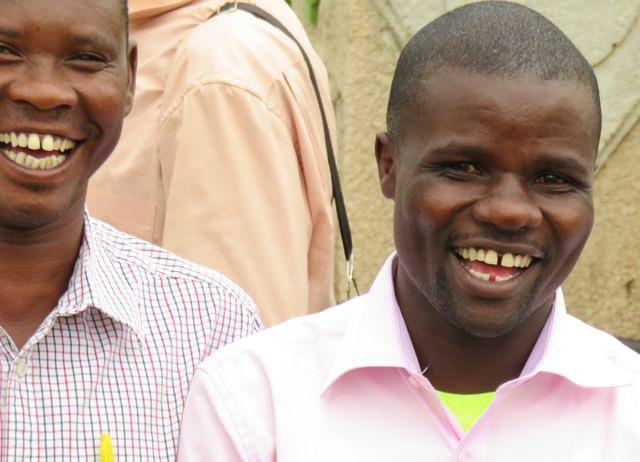 smiling African men